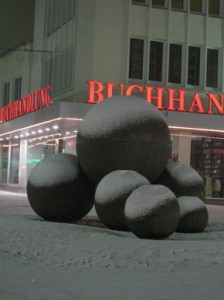 Snow on Kugelbrunnen