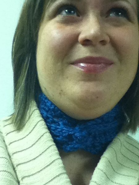Broomstick lace scarf for me (2010)