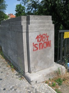 """1984 is now"" graffiti (Berlin)"