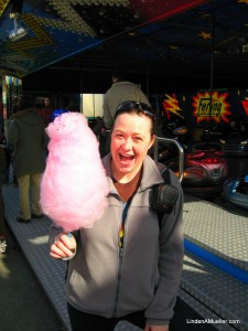 Zuckerwatte / Cotton Candy. It's at least twice as big as my head and fluffy fresh!