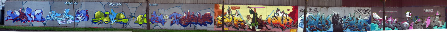 The Schiffenberger Weg panoramic graffiti