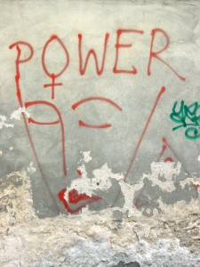 power face graffiti (Giessen)