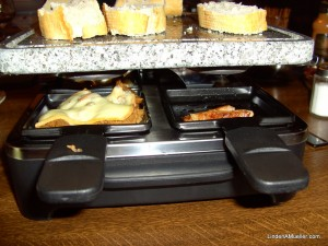 Close-up of under the raclette grill