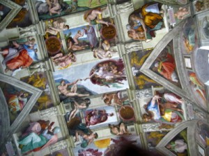 Illegal Picture of the Sistine Chapel and The Creation of Adam!