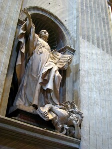 An amazing statue at St. Peter's Basilica