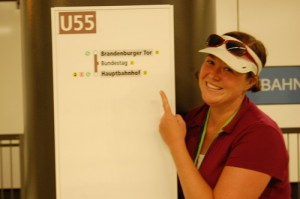 Linden and the new U55 (Berlin)