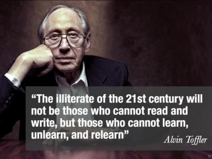 Alvin Toffler Quote: The illiterate of the 21st century...""